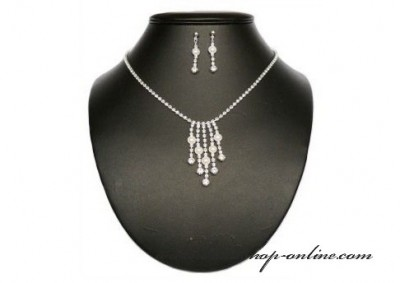 Brautset mit Perlen