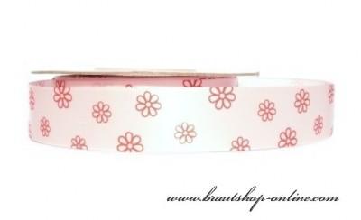 Band mit Blumen rosa