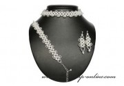 Detail anzeigen - Feines Brautset mit den Perlen