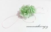 Autoschmuck mit Rosen hell mint-green