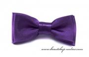 Detail anzeigen - Mini Kinderfliege mit Taschentuch violett