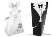 Detail anzeigen - Papierschachtel Braut mit Bräutigam