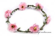 Detail anzeigen - Haarkranz mit Blumen in rosa