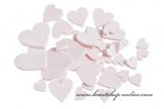 Detail anzeigen - Holzherzen in rosa
