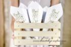 Tüten für Hochzeitsreis und Rosenblätter