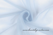 Chiffonstoff durchsichtig - hellblau