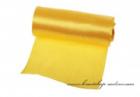Einseitiger Satinstoff gelb, Breite 12 cm