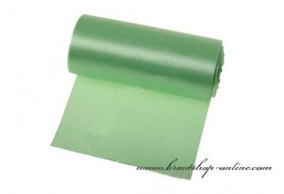 Einseitiger Satinstoff grün, Breite 12 cm