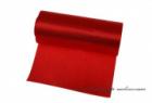 Einseitiger Satinstoff rot, Breite 12 cm