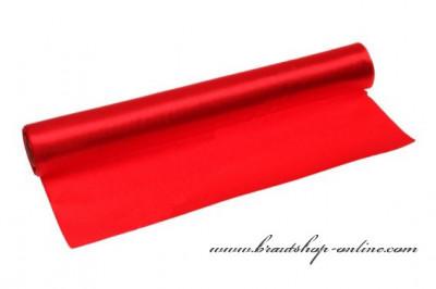 Einseitiger Satinstoff rot, Breite 36 cm