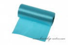 Einseitiger Satinstoff Türkisfarbe, Breite 12 cm