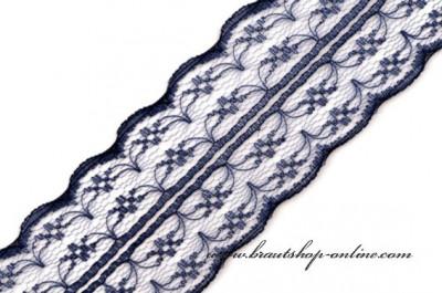 Feine Spitze in navy blue, Breite 4,5 cm