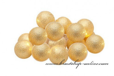 Lichtskette in gold - 10 Ballons