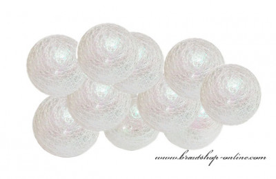 Lichtskette Perlmutt - 10 Ballons