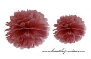 Pom Poms marsala, 35 cm Durchmesser