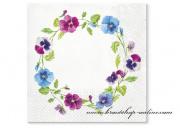Detail anzeigen - Servietten mit Blumen
