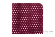Detail anzeigen - Taschentuch bordeaux mit Punkten