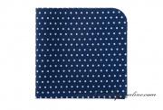 Detail anzeigen - Taschentuch navy blue mit Punkten