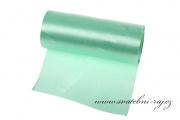 Einseitiger Satinstoff mint-green, Breite 12 cm