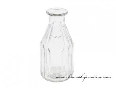 Kristallklare Glasvase, Höhe 15,5 cm