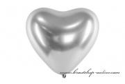 Detail anzeigen - Luftballon Herz silber