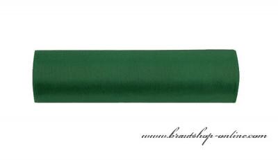 Organzastoff dunkelgrün, 16 cm Breite