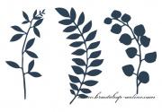 Papierblättchen navy blue