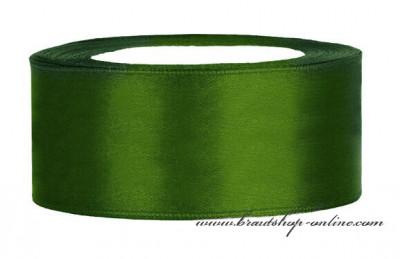Satinband dunkelgrün, Breite 40 mm