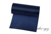 Einseitiger Satinstoff navy blue, Breite 12 cm