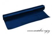 Einseitiger Satinstoff navy blue, Breite 36 cm