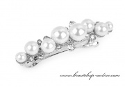Detail anzeigen - Französische Haarspange mit Perlen