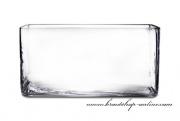 Detail anzeigen - Glasvase Quader 29,5 x 14,5 x 10 cm