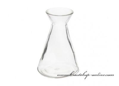 Kristallklare Glasvase, Höhe 11 cm
