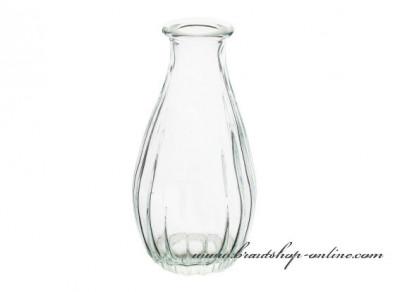 Kristallklare Glasvase, Höhe 14 cm