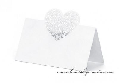 Namensschilder mit dem Herz