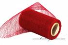 Organzastoff Spider rot, 12 cm Breite