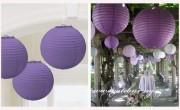 Dekorationskugel violett, 20 cm Durchmesser