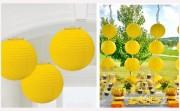 Dekorationskugel gelb, 20 cm Durchmesser