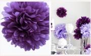 Pom Poms violett, 20 cm Durchmesser