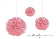 Pom Poms rosa, 35 cm Durchmesser
